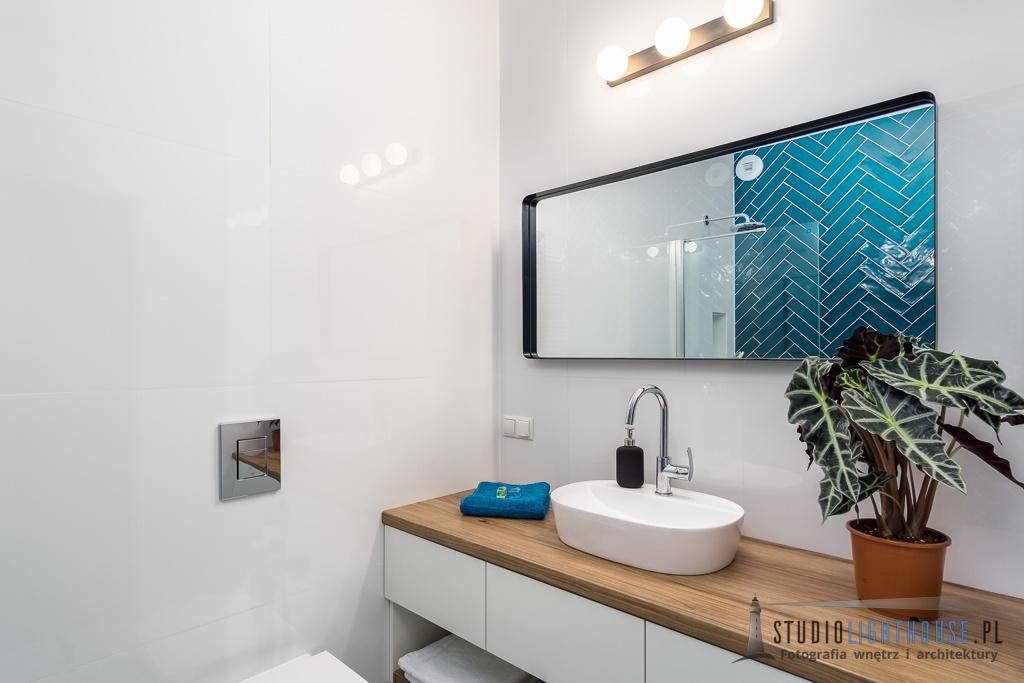 Urocze mieszkanie Poznań łazienka